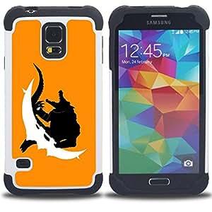 For Samsung Galaxy S5 I9600 G9009 G9008V - Crocodile Monster Dual Layer caso de Shell HUELGA Impacto pata de cabra con im??genes gr??ficas Steam - Funny Shop -
