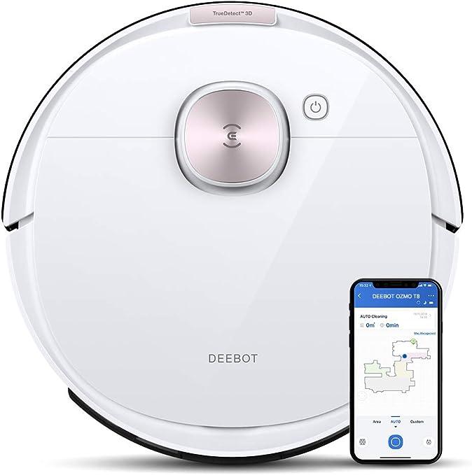 ECOVACS DEEBOT OZMO T8 - Robot Aspirador 2 en 1 con función de Limpieza y navegación Inteligente - Google Home, Control de Alexa y aplicación: Amazon.es: Hogar