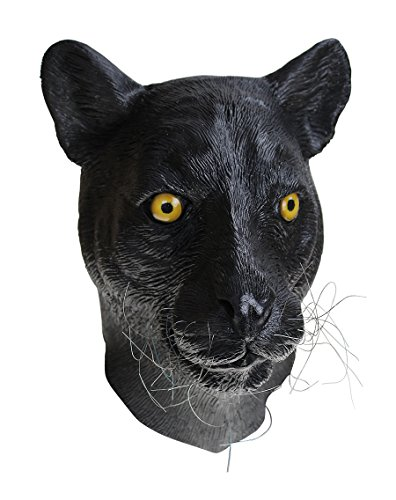 Deluxe Animal Head Latex Mask Black Panther Leopard Party Props Cosplay Masks Masquerade Carnival Costume -