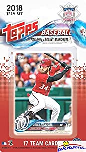 2018 Topps Baseball National League STANDOUTS EXCLUSIVE Special Limited Edition 17 Card Complete Set with Bryce Harper, Clayton Kershaw, Joey Votto, Cody Bellinger & Many More Superstars! WOWZZER!