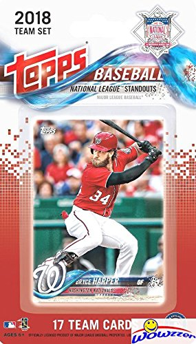 National Baseball Card - 2018 Topps Baseball National League STANDOUTS EXCLUSIVE Special Limited Edition 17 Card Complete Set with Bryce Harper, Clayton Kershaw, Joey Votto, Cody Bellinger & Many More Superstars! WOWZZER!