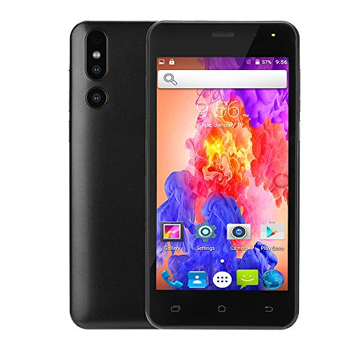 Fheaven Unlocked 5.0 inch Android 6.0 Dual HD Camera Smartphone IPS Screen GSM/WCDMA Touch Screen WiFi GPS 3G Call Mobile Phone (Black)