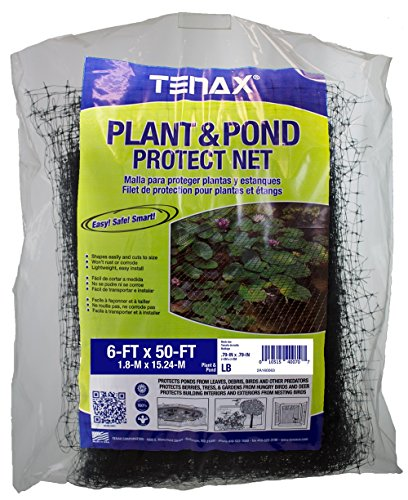 Tenax 2A160063 Plant & Pond Protect Net 6 x 50 ft Bag 6 x, White by Tenax
