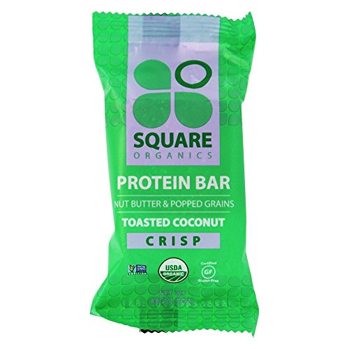 Square Organics - Nut Butter & Popped Grains Protein Bar Toasted Coconut Crisp - 1.7 oz.