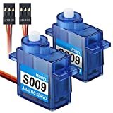 UNOOE 1 Pair / 2Pcs 9g 360 Degree Rotation Gear Analog Servo for Futaba JR RC Helicopter Car Boat Robot Controls