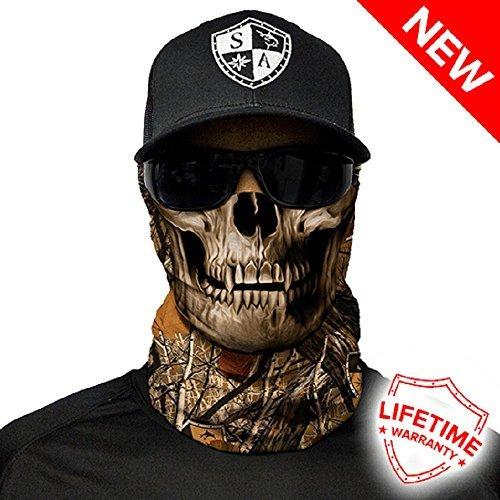 Salt Armour Face Mask Shield Protective Balaclava Alpha Defense (Forest Camo (Motorcycle Skull Mask)