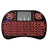 2.4GHz Wireless Mini Keyboard With Backlit Remote Control Touchpad Android TV Box Tablet HTPC Laptop