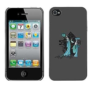 TECHCASE**Cubierta de la caja de protección la piel dura para el ** Apple iPhone 4 / 4S ** Mystical Japanese Geisha