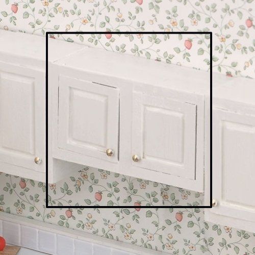 - Dollhouse Miniature The Kitchen Collection - 3 Inch Upper Cabinet by