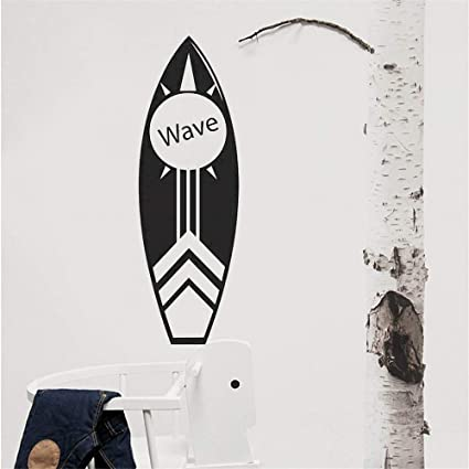 Zxfcccky Etiqueta De La Pared Tabla De Surf Etiqueta De Arte De Pared Decoración De Playa