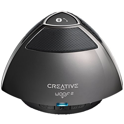Creative Woof 2 Portable Micro Wireless Speaker (Gun Metal)
