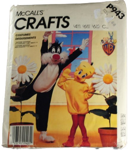 Tweety Bird And Sylvester Costumes - McCall's P943 Sewing Pattern Sylvester and