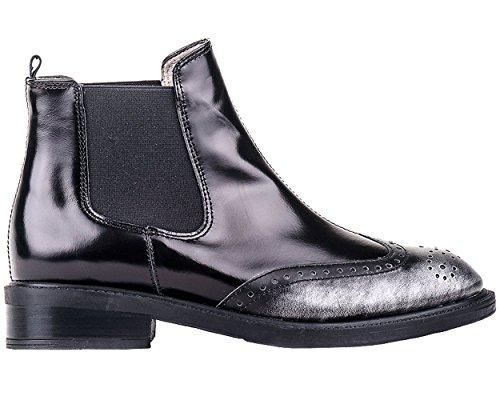Unisa Belice, botines, bajo 2-4 cm, negro, piel, Redonda, otoño invierno 2014-15