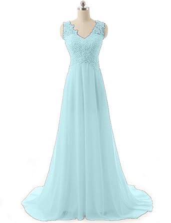 JAEDEN Evening Dresses for Wedding Bridal Gown Prom Dress Appliqued Cyan UK30