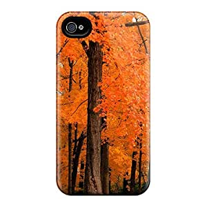Hot Tpu Cover Case For Iphone/ 4/4s Case Cover Skin - Autumn Leaves