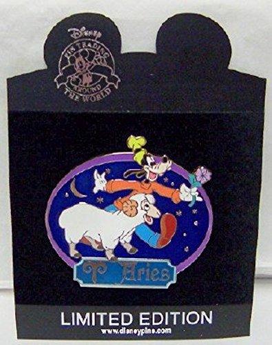 Disney Pin Jumbo Horoscope Series Aries Goofy Pin