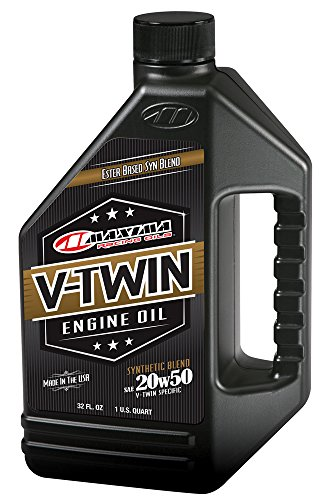 20w50 Racing Oil (Maxima Racing Oils 30-14901 20w50 V-Twin Synthetic Blend Engine Oil - 32 fl. oz.)