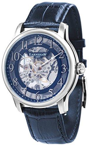 Thomas Earnshaw Mens The Longitude Skeleton Watch - Blue/Silver