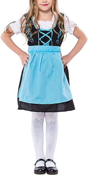 LCXYYY - Vestido de tirolesa para niña, manga corta, hasta la ...