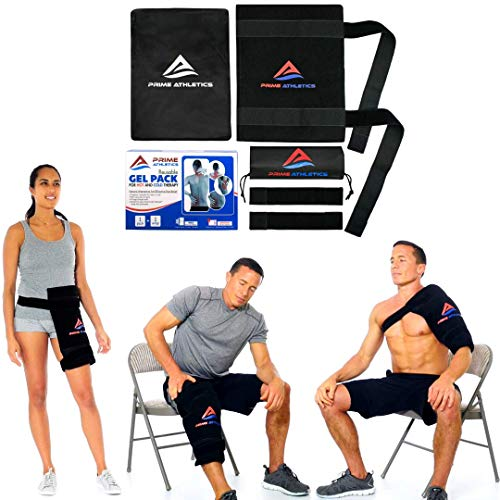 Ice Pack for Injuries Reusable - Back Knee Shoulder Hip Recovery Physical Therapy Large Hot Cold Flexible Gel Pack & Wrap for Swelling Sprain Muscle & Joint Pain Relief |WATCH VIDEO|XL11.5