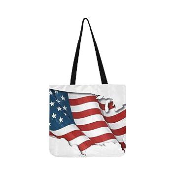 Bandera de EE. UU. Mapa Sombra interior Bolsa de lona Bolso ...
