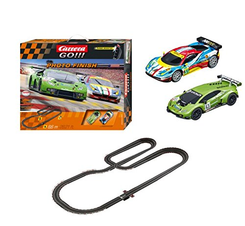 (Carrera GO!!! Photo Finish 1:43 Scale Electric Powered Slot Car Race Track Set System 28 Feet)