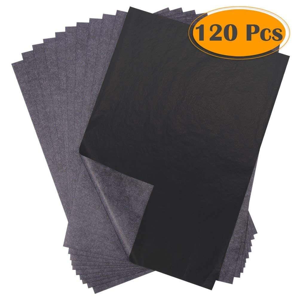 Selizo 100 Sheets Carbon Transfer Paper and Tracing Paper with Embossing Stylus Set for Drawing Canvas Wood and Other Art Surfaces Sketching