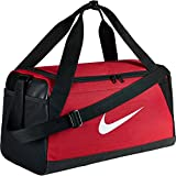 Nike Brasilia Training Duffle Bag Small,Red/Black/White,20 L x 10 W x 11 H