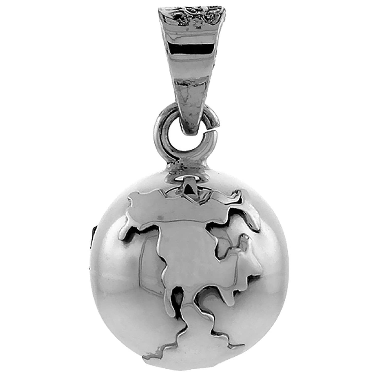 Amazon sterling silver globe harmony ball pendant handmade 3 amazon sterling silver globe harmony ball pendant handmade 34 inch with snake chain pendant necklaces jewelry aloadofball Gallery