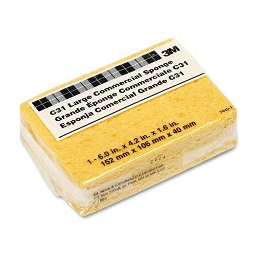 Commercial Cellulose Sponge - Scotch-Brite PROFESSIONAL - Commercial Cellulose Sponge, Yellow, 4 1/4 x 6 C31 (DMi EA