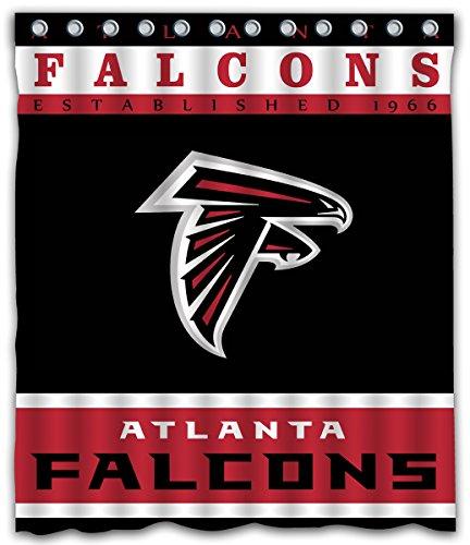 Sonaby Custom Atlanta Falcons Waterproof Fabric shower curtain For Bathroom Decoration (60x72 Inches)