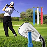 Qjoy Golf Club Sharpener Stainless Steel Golfs Groove Wedge Cleaner Regroover U V Blade Cutters Cleaning Tool Accessories (Blue)