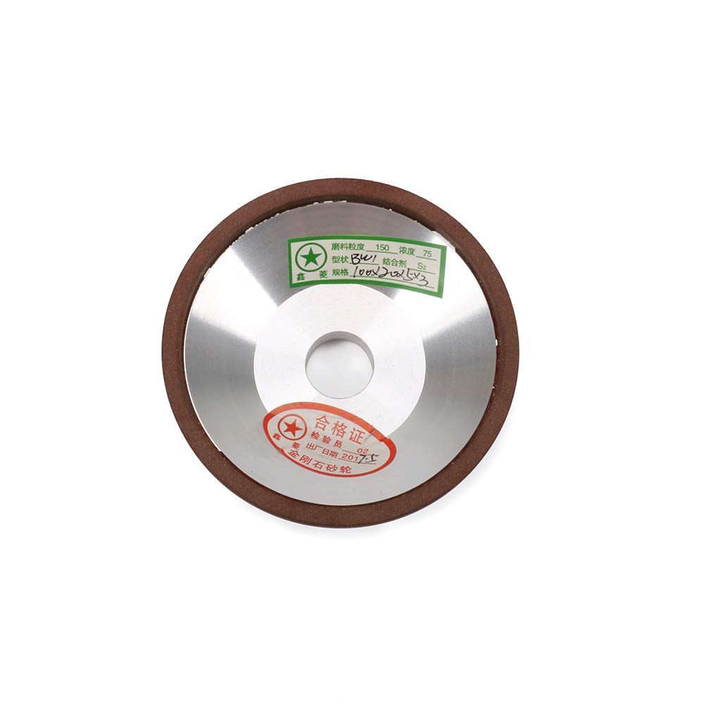 Join Ware 4 Inch Cup Resin Bonded Diamond Grinding Wheel For Carbide Metal 150 Grit 100x20x32x53mm