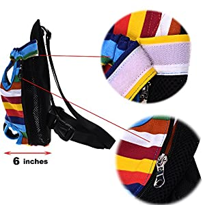 Cosmos Large Size Colorful Strip Pattern Pet Dog Legs Out Front Carrier Bag