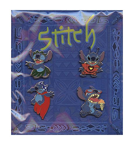 Disney Stitch Alien Booster Set. Hula Stitch, 626 Stitch, Ice Cream Stitch, Super Hero with Cape Stitch
