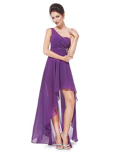 Ever Pretty One Shoulder Rhinestones Hi-Lo Chiffon Party Dress 08100