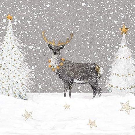 Miss Lovely Serviettes De Noël Hiver Forêt Avec Cerf