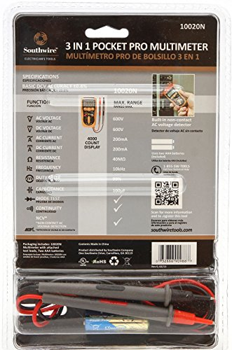 Southwire 10020N 3-in-1 Pocket Multimeter CAT IV: Amazon.com ...