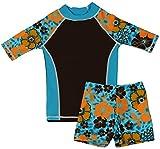 grUVywear UV Sun Protective UPF 50+ Girls UV Rashguard 2 pc Swim Top & Short Set