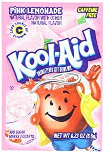Kool-Aid Pink Lemonade Unsweetened Soft Drink Mix, 0.23-Ounce Packets (Pack of 96)