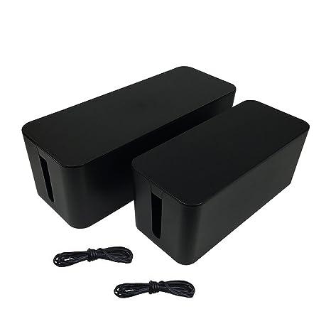 Amazon.com: ABIENTOT [Set of Two] Cable Management Box, Large Cable ...