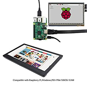12 Inch IPS HDMI Monitor 1920x1080 TFT LCD Screen Display for Raspberry Pi 3 2 1 Model B B+ Banana Pi Windows 7 8 10 with DVI-D VGA Interface Works for PS3 PS4 WiiU XBOX360 Game CCTV Home Office