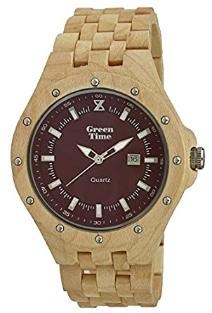 Green Time Unisex-Armbanduhr Analog Quarz Holz ZW038 C