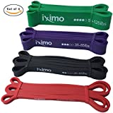 Cheap IXIMO Pull Up Assist Bands, Exercise Resistance Bands for Women, Pull Up Bands Set for Men, Workout Resistance Bands for Legs and Butt– Set of 4 (Set of 4)