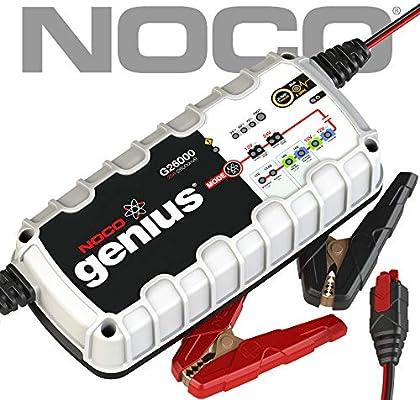 NOCO Genius G26000EU 12V / 24V 26 Amp Cargador de batería inteligente y mantenedor para auto, moto y más