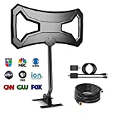 Efind Amplified 150Miles Ultra TV Antenna - Indoor/Outdoor HDTV Antenna with Amplifier TV Channels High Reception Digital Antenna for TV FM/VHF/UHF 4K 1080P Signals High Definition 33ft Cable