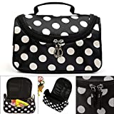 COOFIT Travel Cosmetic Bag Top Handle Cosmetic Storage Bag Travel Toiletry Organizer Toiletry Bag