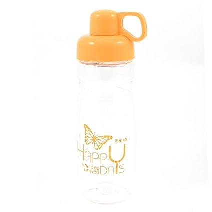 Mariposa de plástico de impresión té Bebida del agua de taza de la botella 600 ml