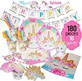 ecoZen Lifestyle Ultimate Unicorn Party Supplies and Plates for Birthday Party | Best Value Unicorn Decorations Set That Give to Make a Long Lasting Magical Memorable Party