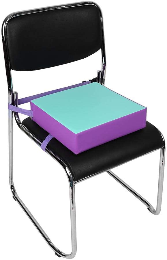 Rouge Coussin de Chaise r/églable pour Coussin de Chaise Haute avec Sangles de Boucle Nikou 1pc Coussin de rehausseur de Chaise pour Enfants